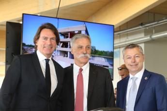 Inauguration nouveaux bâtiments circuit Gilles-Villeneuve